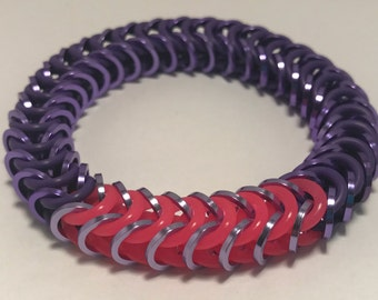 Sombra Inspired Stretch Box Chain Chainmaille Bracelet
