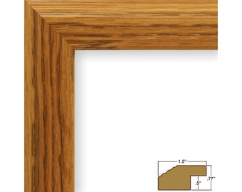 """Craig Frames, 16x20 Inch Light Oak Picture Frame, Mossehaus, 1.5"""" Wide (FW4NA1620)"""