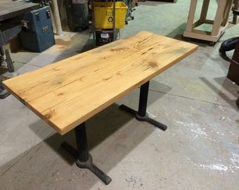 Reclaimed Fir Desk/Table with restaurant style bases.