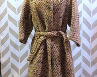 Winkelman's Mid Sleeve Tweed Wrap Coat
