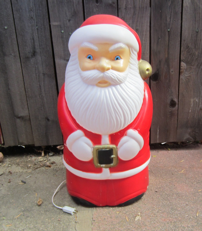 Vintage Blow Mold Christmas Carolers Christmas Lawn Decor: Vintage Santa Blow Mold Indoor Or Outdoor Christmas Decoration