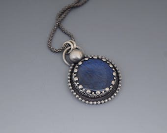 Spectralite Sterling Silver Pendant Necklace
