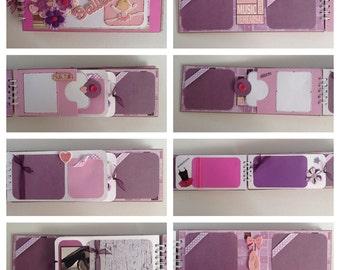 Ballet Dance Pre Made Chipboard Scrapbook Album * Just Add Photos *