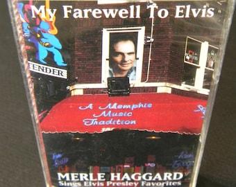 Unopened Vintage cassette, Merle Haggard, My Farewell to Elvis