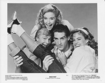Mischief Press Photos x2 - Kelly Preston, Doug McKeon, Catherine Mary Stewart, Chris Nash