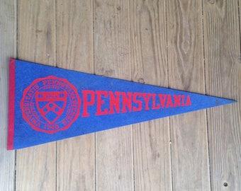 Vintage University of Pennsylvania Pennant