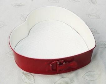Red & White Heart Shaped Cake Pan - 2 pcs
