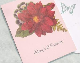 Always and Forever Handmade Greeting Card - OOAK