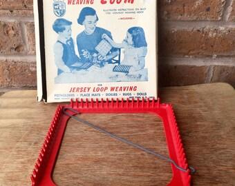 Hand Weaving Loom Kit for Jersey Loop Weaving, 1960's