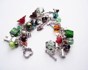 Garden themed charm bracelet