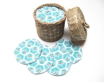 Organic Reusable Facial Rounds, 10 Organic Cosmetic Rounds, Makeup Remover Pads, Eco-Friendly Face Scrubbies, Reusable Organic Cotton Rounds