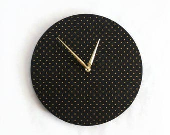 Large Wall Clock, Black and Gold Clock,  Home and Living, Home Decor, Decor and Housewares