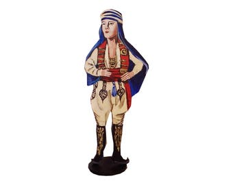 Rudolph Valentino Hand Painted 2D Art Figurine