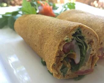 Raw Vegan Organic Golden Flax seed  Celery Bread 10 pieces.