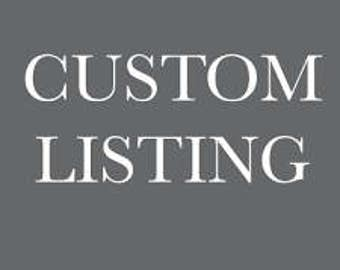 Custom Listing for Jami- Bench