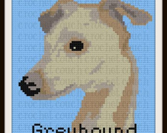 Greyhound C2C Graph with Written Word Chart