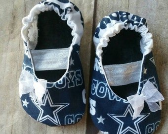 Dallas Cowboys Baby Maryjane Booties