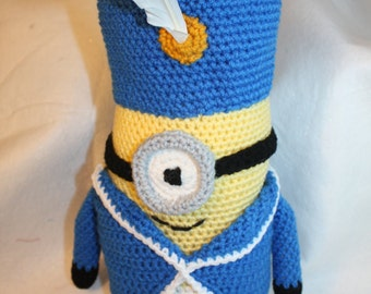 Crochet French Soldier Doll/ Minion Character--- Free Shipping