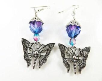 Clearance - Silver butterfly earrings