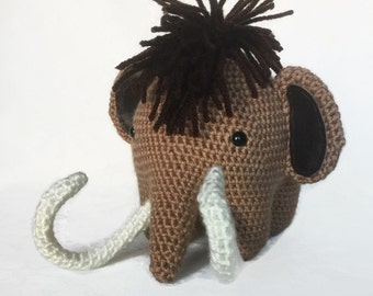 Mammoth Stuffed Animal / Mammoth Plush Toy / Ice Age Mammoth / Baby Gift / Baby Shower / Crochet Mammoth / Manny