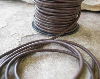 2 MM Leather Chocolate Brown Cord Round Craft Jewelry Lace 4 Yards
