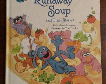 Vintage Sesame Street The Runaway Soup and Other Stories Sesame Street Golden Book