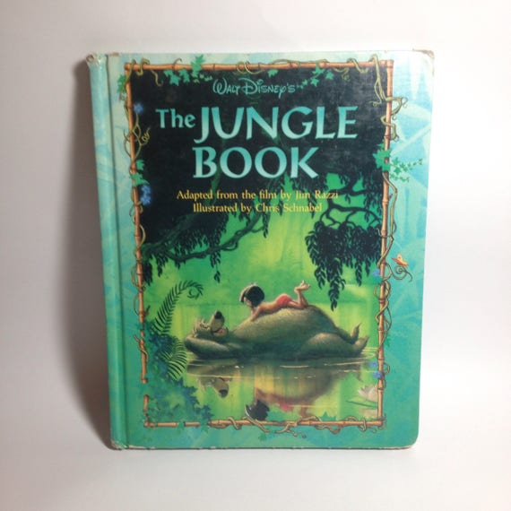 Libro de la selva libro tapa dura grande Walt Disney de los