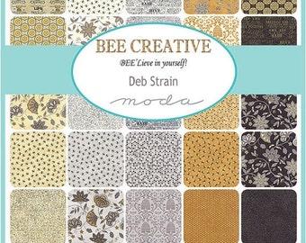 On Sale BEE CREATIVE Fat Quarter Bundle by Deb Strain for Moda - 28 SKUS - 19750Ab