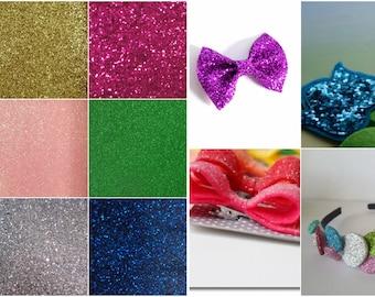 10 Glitter Felt Squares