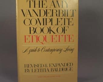 Vintage Amy Vanderbilt Complete Book of Etiquette Contemporary Living 1978