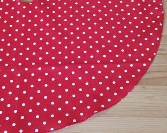 "Red Mini-Dot 26"" Tree Skirt - Free Shipping, Made in USA"