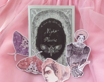 Night Music A6 zine with 4 exclusive stickers