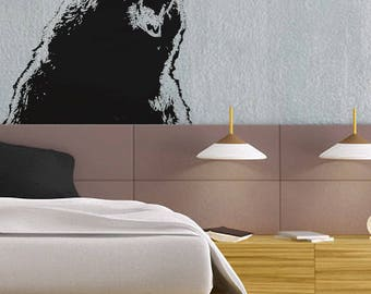 Growling Grizzly - uBer Decals Wall Decal Vinyl Decor Art Sticker Removable Mural Modern A855