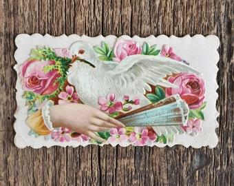 Antique Victorian Calling Card Reba L. Miller