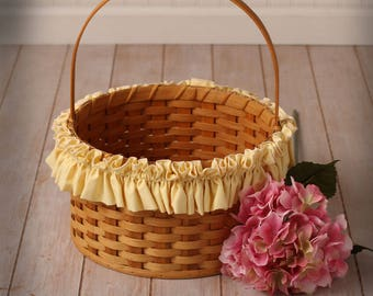 Yellow XL Basket Garter, Basket Accessories, Home Decor