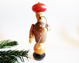 German Vintage Smoker Incense Smoker Man Aladdin Sultan with Turban and Pipe + 1 Box German Incense Cones