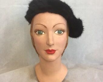 1940s mink hat