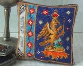 Anne Boleyn Badge Pincushion Cross Stitch Kit