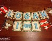 Woodland Critters Personalized Name Banner