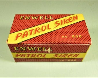 Enwell Patrol Siren - Vintage Bicycle No 800 Japan Original Box
