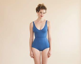 Summer Clothing, Women Summer Clothing, One Piece, Swimwear, Beach Party, Womens Beach Wear, Blue Swimsuit, Beach Wear, Retro Style