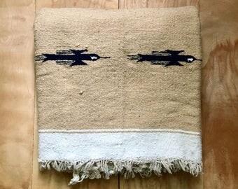 Vintage Serape Blanket - Southwest Mexican Blanket Serape Thunderbird