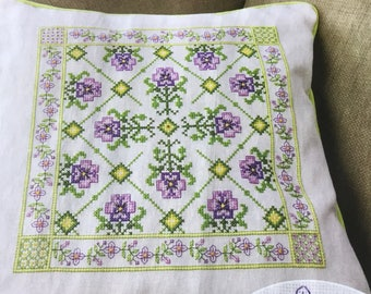 Lavender Pillow/Cushion - Cross Stitch Pattern Only