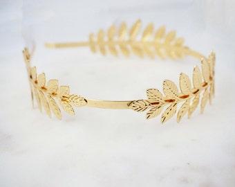 Glossy Gold Leaf Headband