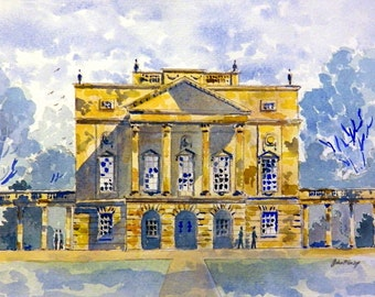Holburne Museum Bath print of a watercolour painting by John Menage size A3 or A4