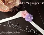 Children hanger, Baby shower gift,Baptism dress hanger,Baptism gift,Name Hanger, Wedding Hanger, Personalized Bridal Gift