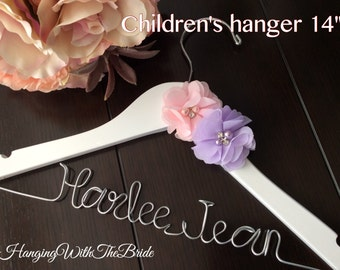 Children hanger, Baby shower gift,Baptism dress hanger,Baptism gift,Name Hanger, Wedding Hanger, Personalized Bridal Gift