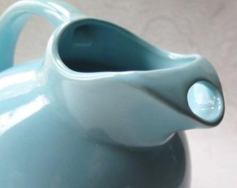 USA Blue Ball Pitcher Jug Vintage Pottery McCoy Bauer Style Retro Kitchen Cottage Chic Robin's Egg Blue