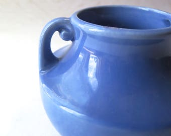 Stangl Blue Vase Handled Pot #2017 Art Pottery Art Deco Grecian Style Retro Ceramic Fulper McCoy Style Mother's Day Gift