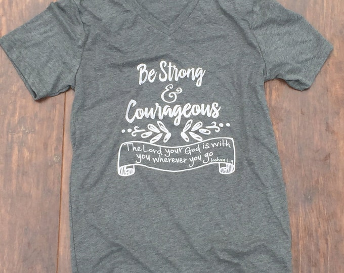 Be strong and courageous shirt benefitting Brock